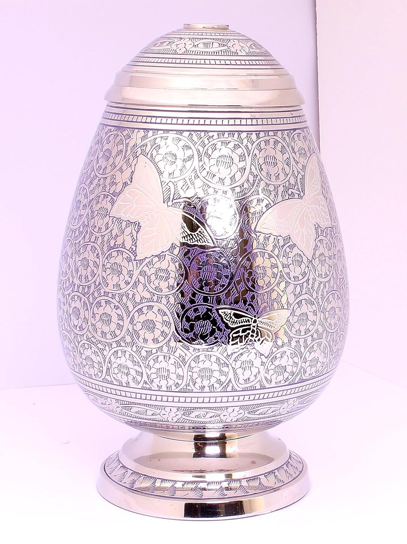 Urne für Asche, großer Urne für Erwachsene, Funeral Memorial Begräbnis Urne, blau Ei Form Schmetterling Design. ANGEBOT (rrp- £109).