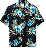 Amazon Brand - 28 Palms Men's Relaxed-Fit 100% Textured Silk Tropical Hawaiian Shirt