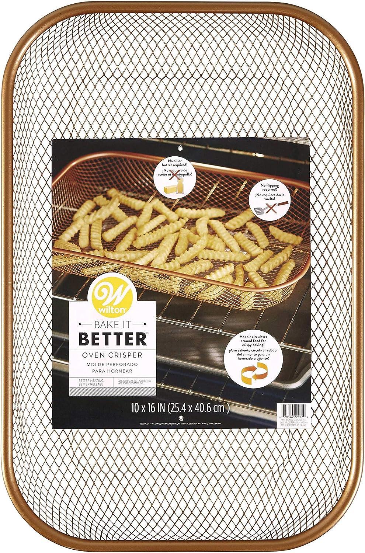 Wilton Bake It Better Copper Oven Crisper Basket, 10 in. x 16 in.