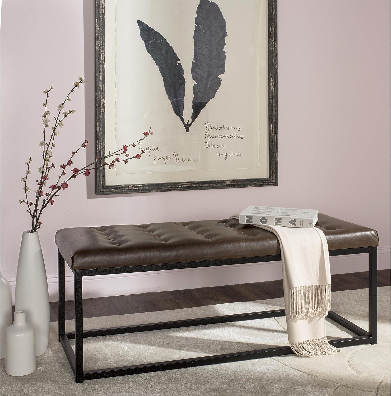 Safavieh Home Collection Reynolds Brown & Black Bench