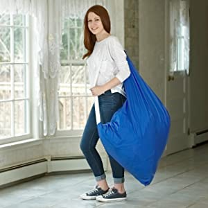 "Nylon Laundry Bag with Shoulder Strap, Royal Blue - 30"" X 40"" - Commercial Grade 100% Nylon, Designed for Heavy Duty Use, College Laundry Bags, Laundromat and Household Storage - Made in The USA"