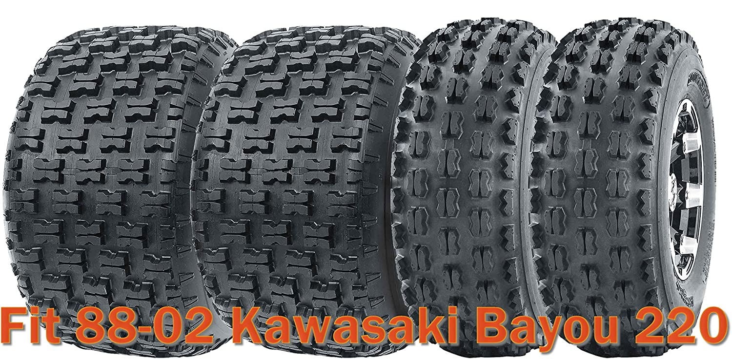 Full Set Sport Atv Tires 21x8 9 22x10 10 For 88 02 Kawasaki Bayou 220
