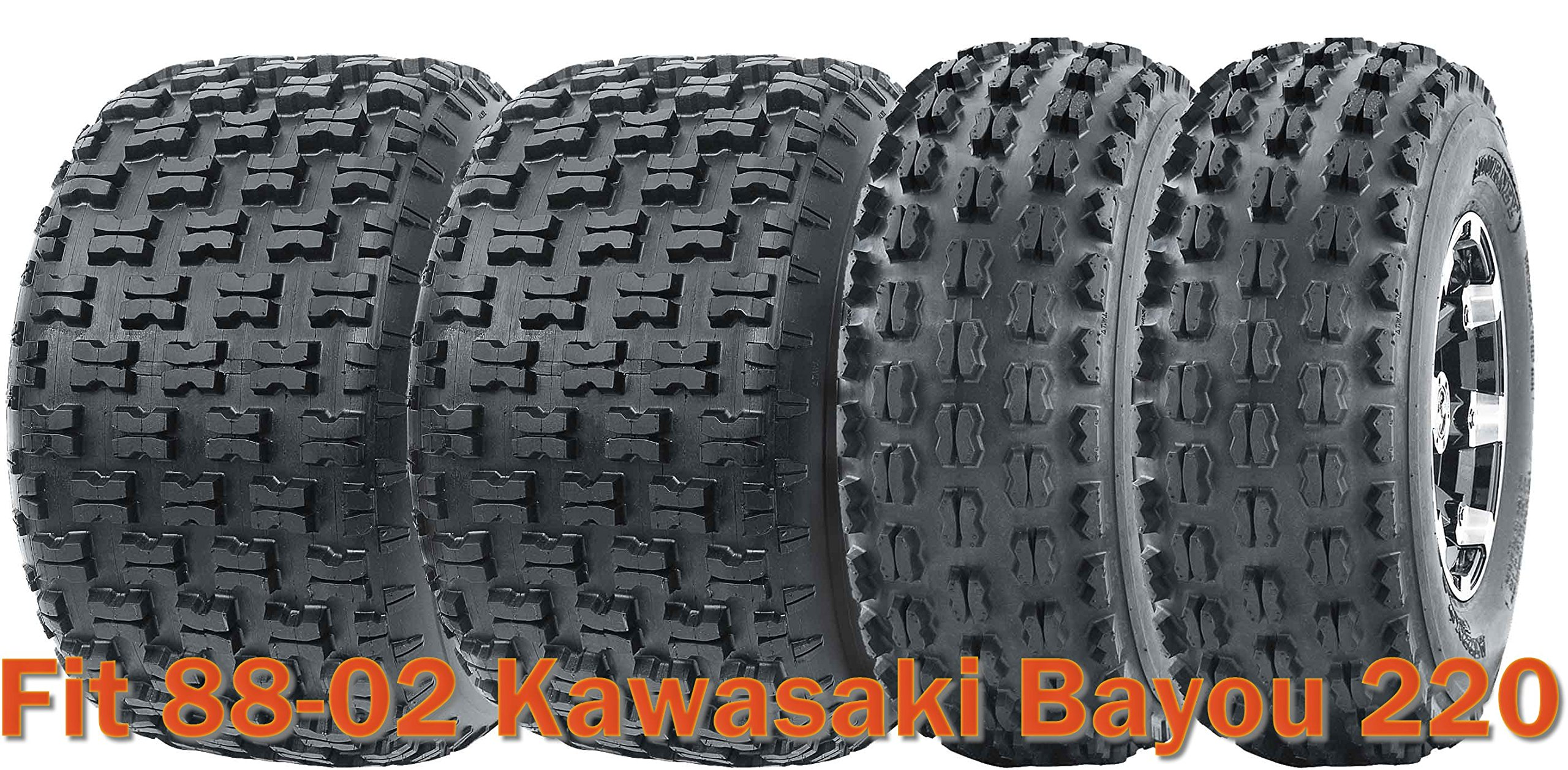 Full Set Sport ATV tires 21x8-9 & 22x10-10 for 88-02 Kawasaki Bayou 220