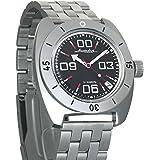 Vostok Amphibia Black Russian Military Mens Wrist Watch WR 200m #150843