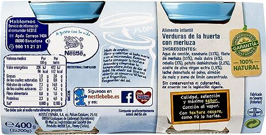 Naturnes - Selección Verdurita de la Huerta con Filete de Merluza 400 gr - Pack de 5 (Total 2000 grams)