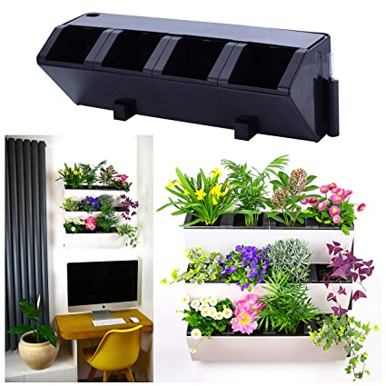 Self Watering Wall Planter By My Easygro Indoor Or Outdoor Living Wall Vertical Hanging Planter Urban Garden Herbs Flowers Vegetables Stand Wall