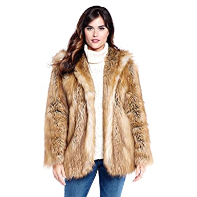 797afa1376a8 Donna Salyers' Fabulous-Furs Hooded Faux Fur Jacket (Gold Fox, Large) at  Amazon Women's Coats Shop