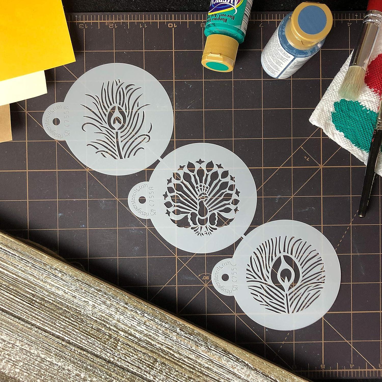 Amazon.com: Designer Stencils C755 pavo real Cookie Stencil ...