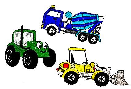 Amazon com: PP Patch Set 3 Dump Truck Dumper, Backhoe Tractor car