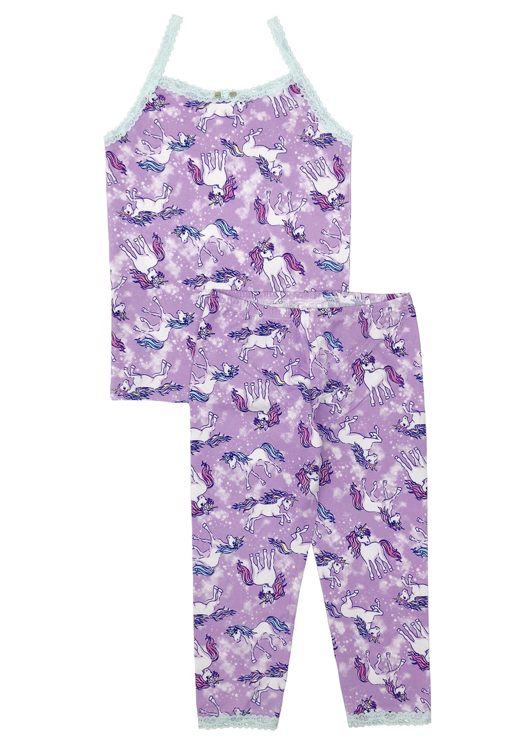Esme Girl's Sleepwear Camisole Leggings Set-5 Unicorn by Esme (Image #1)