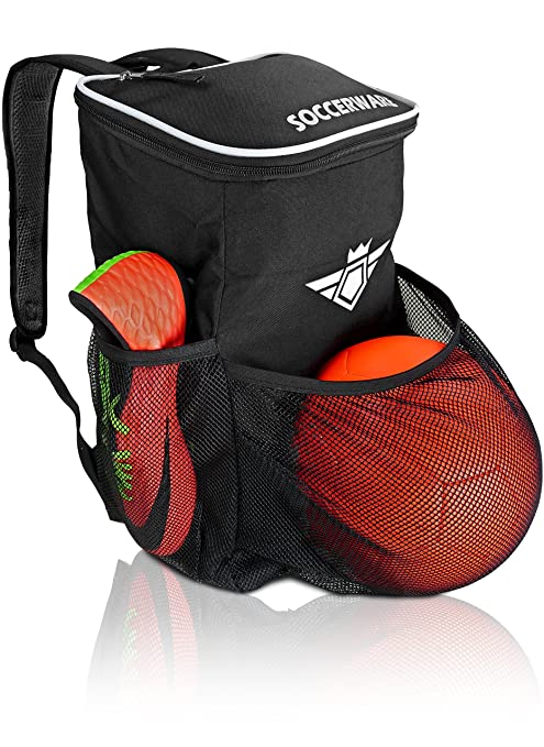 3982908af35 Amazon.com   Soccer Backpack with Ball Holder Compartment - for Boys ...