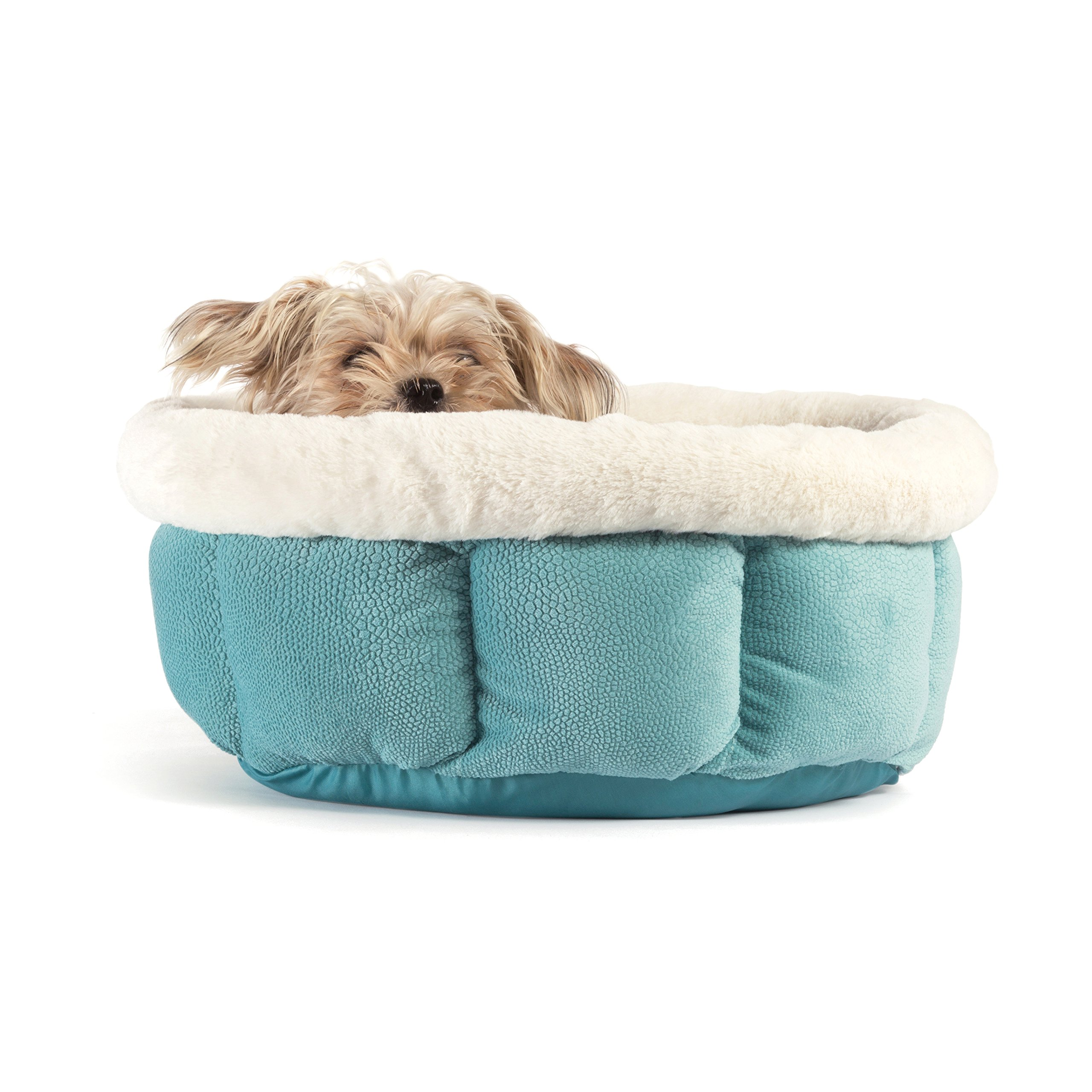 Best Friends by Sheri Small Cuddle Cup - Cozy, Comfortable Cat and Dog House Bed - High-Walls for Improved Sleep, TidePool by Best Friends by Sheri (Image #3)