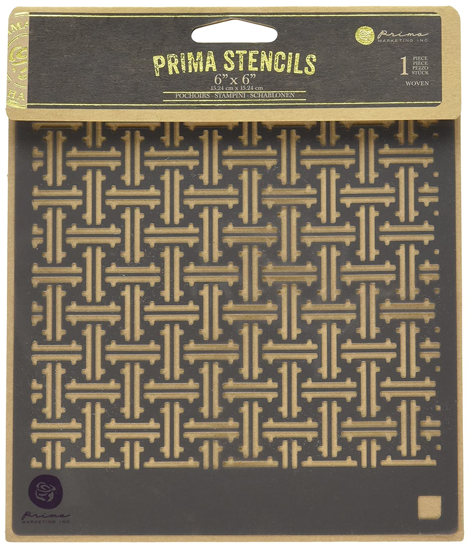 Prima Marketing 584559 Designer Stencil, 6 by 6, Woven 6 by 6
