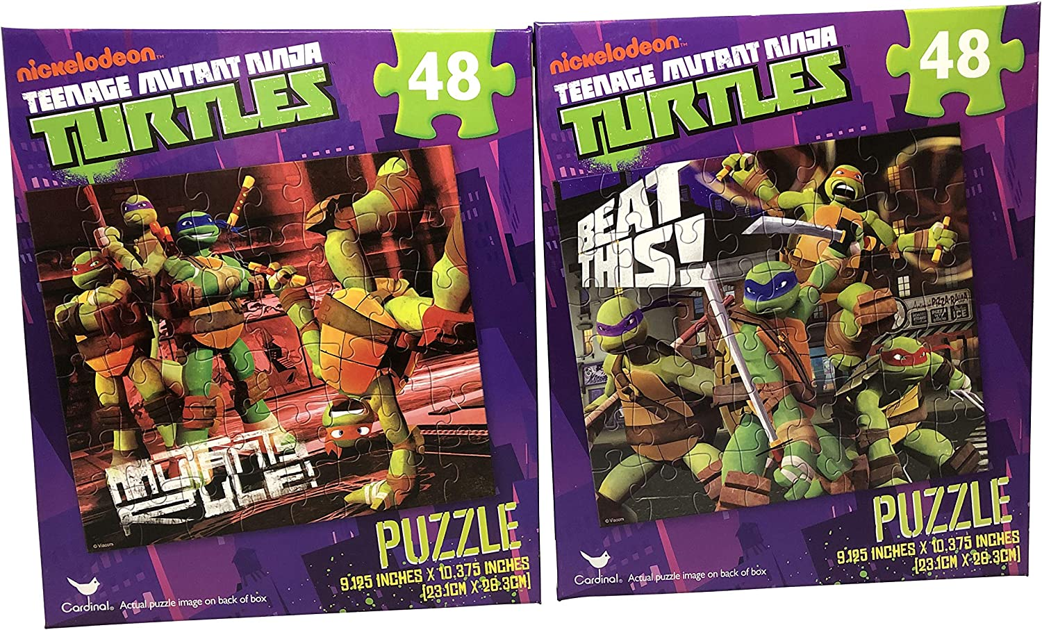 Set of 2 Teenage Mutant Ninja Turtles Puzzles