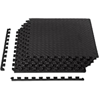 AmazonBasics Exercise Mat EVA Foam Interlocking Tiles