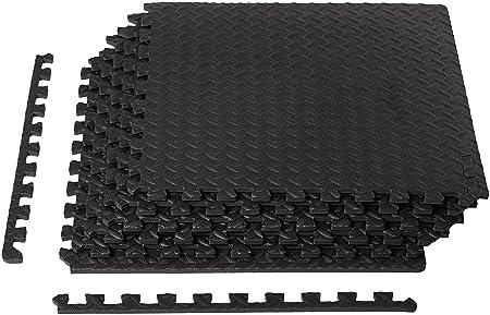 Famous AmazonBasics - Trainingsmatte aus EVA-Schaum, Puzzleteile-Optik CL81