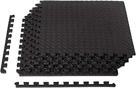AmazonBasics Puzzle Exercise Mat with EVA Foam Interlocking Tiles Exercise Mats at amazon