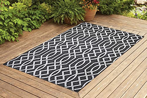 Benissimo Indoor Outdoor Rug Ribon Collection Non-Skid, Natural Sisal Woven and Jute Backing Area Rugs for Living Room, Bedroom, Kitchen, Entryway, Hallway, Patio, Farmhouse Decor 8×10, Gray