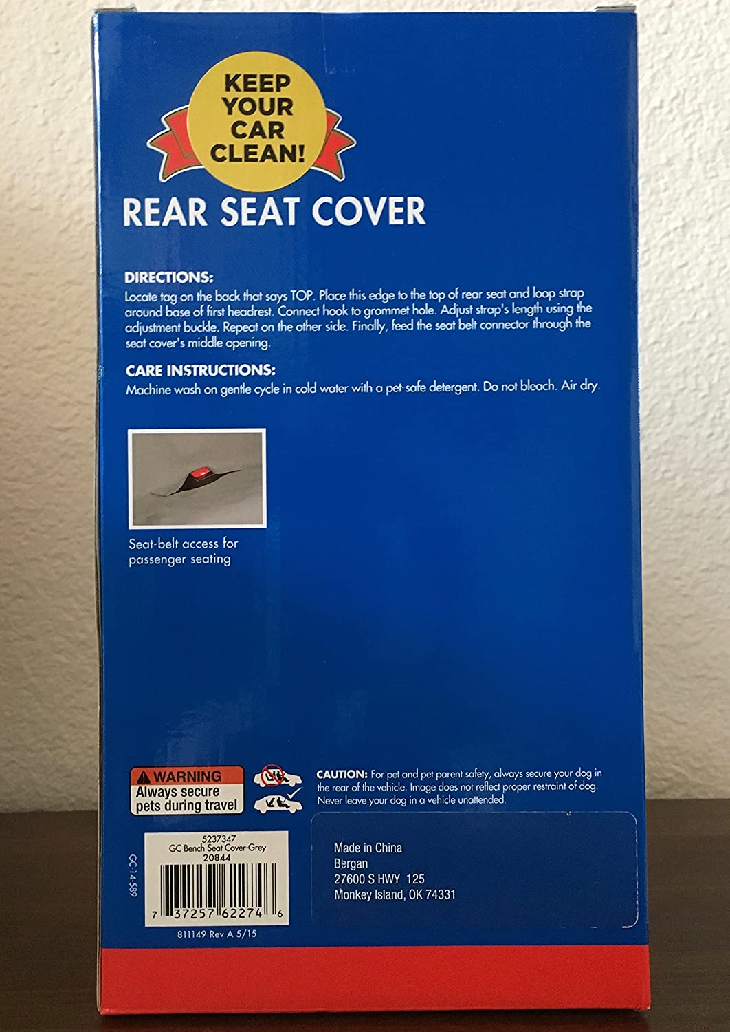Amazon com : Rear Seat Cover for Dogs and Pets : Pet Supplies