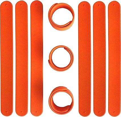 Durable CAS Enterprises Inc. TheAwristocrat 9 RED Silicone Slap Bracelets Soft /& Safe for Kids Boys /& Girls Party Favors