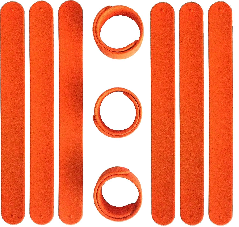 TheAwristocrat/_USA Company/_ 9 Silicone Slap Bracelets Rainbow of Colors Durable Soft /& Safe Party Favors Customize /& Reuse!
