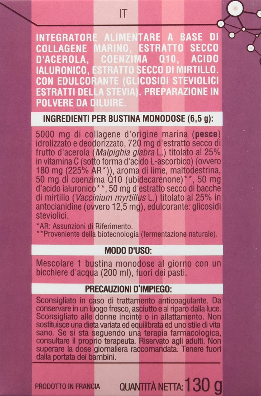 Anaskin Sobres Colágeno, Ácido Hialurónico, Coenzima Q10, Acerola y Arándano 130 g - 20 Unidades: Amazon.es: Salud y cuidado personal