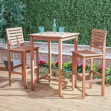 Amazon.de: Holz Bar Tisch und Stühle