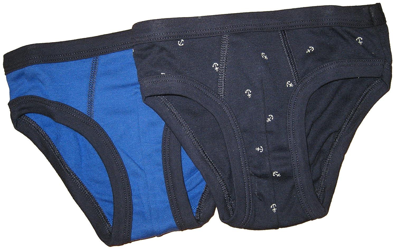 Petit Bateau 2pk Boys Anchor//solid Briefs Blue//royal-sizes 2//12 2, BLUE//ROYAL BLUE