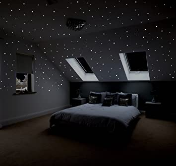 Realistischer Sternenhimmel zum Kleben mit über 400 selbstklebenden ...
