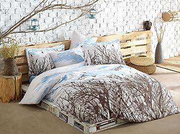 3 Pcs Luxe Souple coloré Chambre à Coucher 65% Coton Lit avec Housse ...