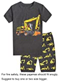 Amazon Price History for:Choco Moon Little Boys Snug-Fit Pajamas Short Sets 100% Cotton Grey PJS Kids Clothes