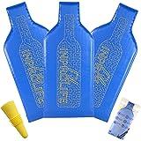 Wine Bottle Protector Travel Bag | 3-Pack of 100% Safe Reusable Bubble Bags to Wrap Glass Bottles | Ziplock Sleeve with Break & Leak-Proof Protection | BONUS 1 Wine Bottle Stopper by INPROLIFE LLC