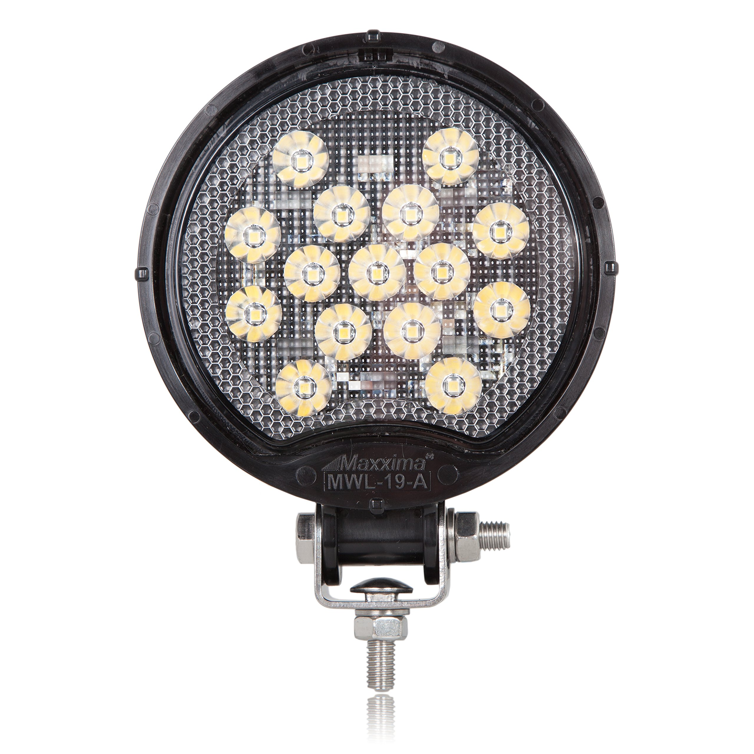 Maxxima MWL-19-A Black Round 15 LED Work Light 550 Lumens by Maxxima