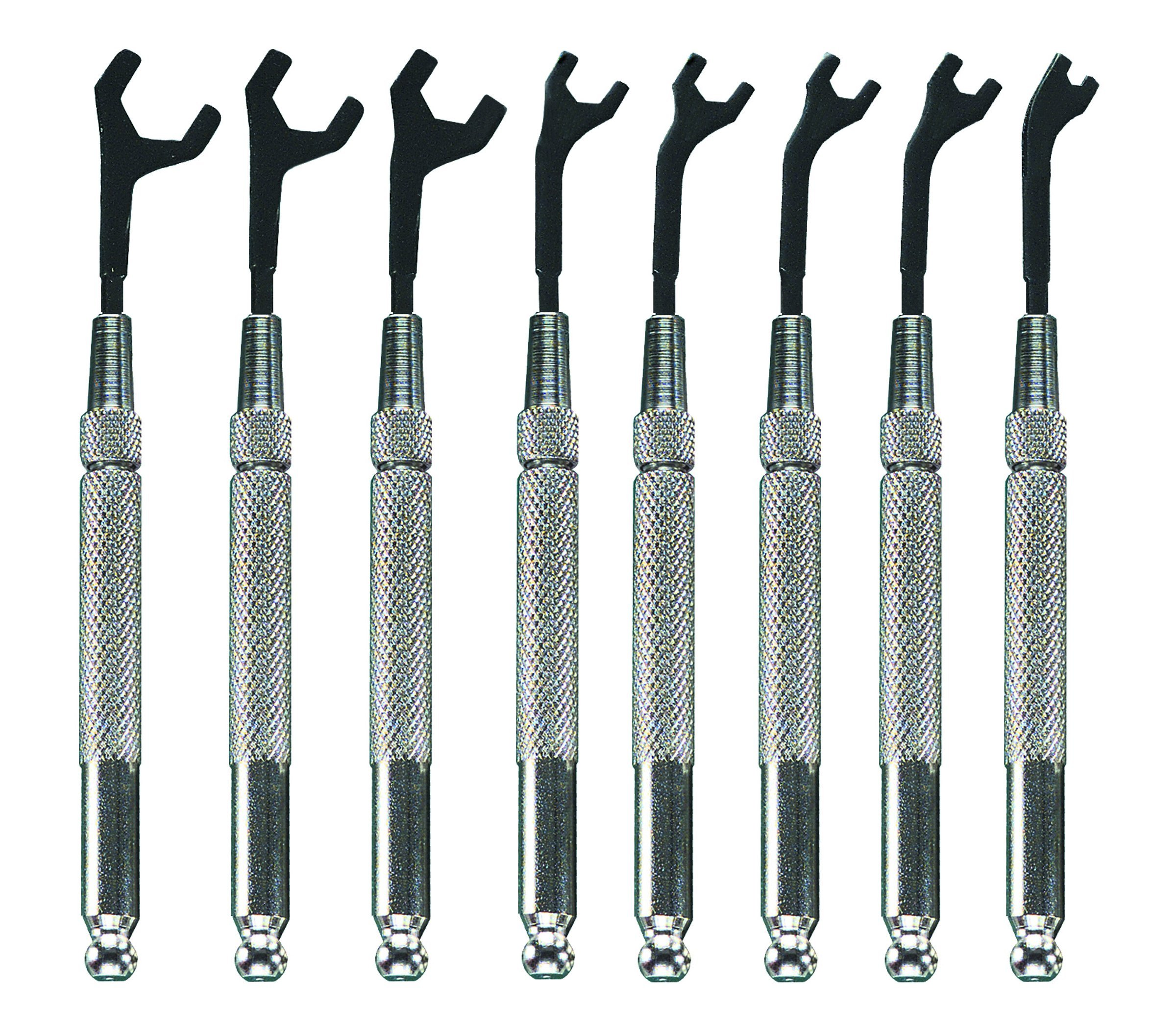 Moody Tools 58-0161 8-Piece Metric Open End Wrench Set