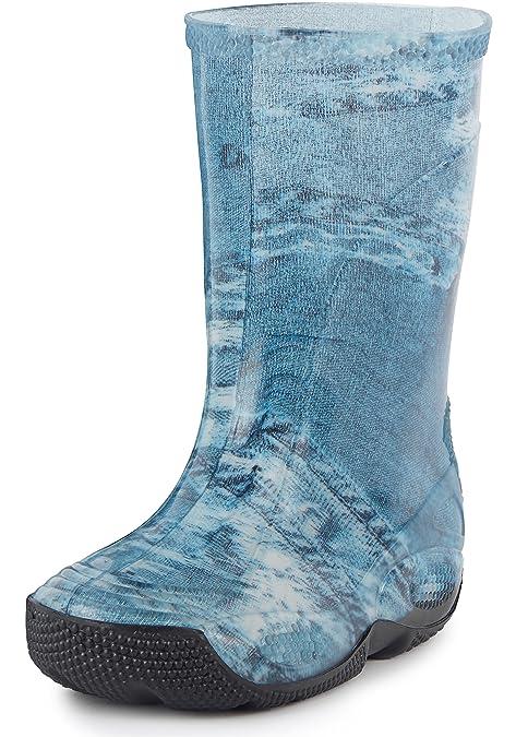 Ladeheid Botas de Agua Zapatos de Seguridad Unisexo Niños LABN195 (Azul/Mezclilla, EU