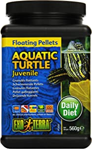 Exo Terra Juvenile Aquatic Turtle Food, Floating Pellets for Reptiles, 19.7 Oz., PT3250