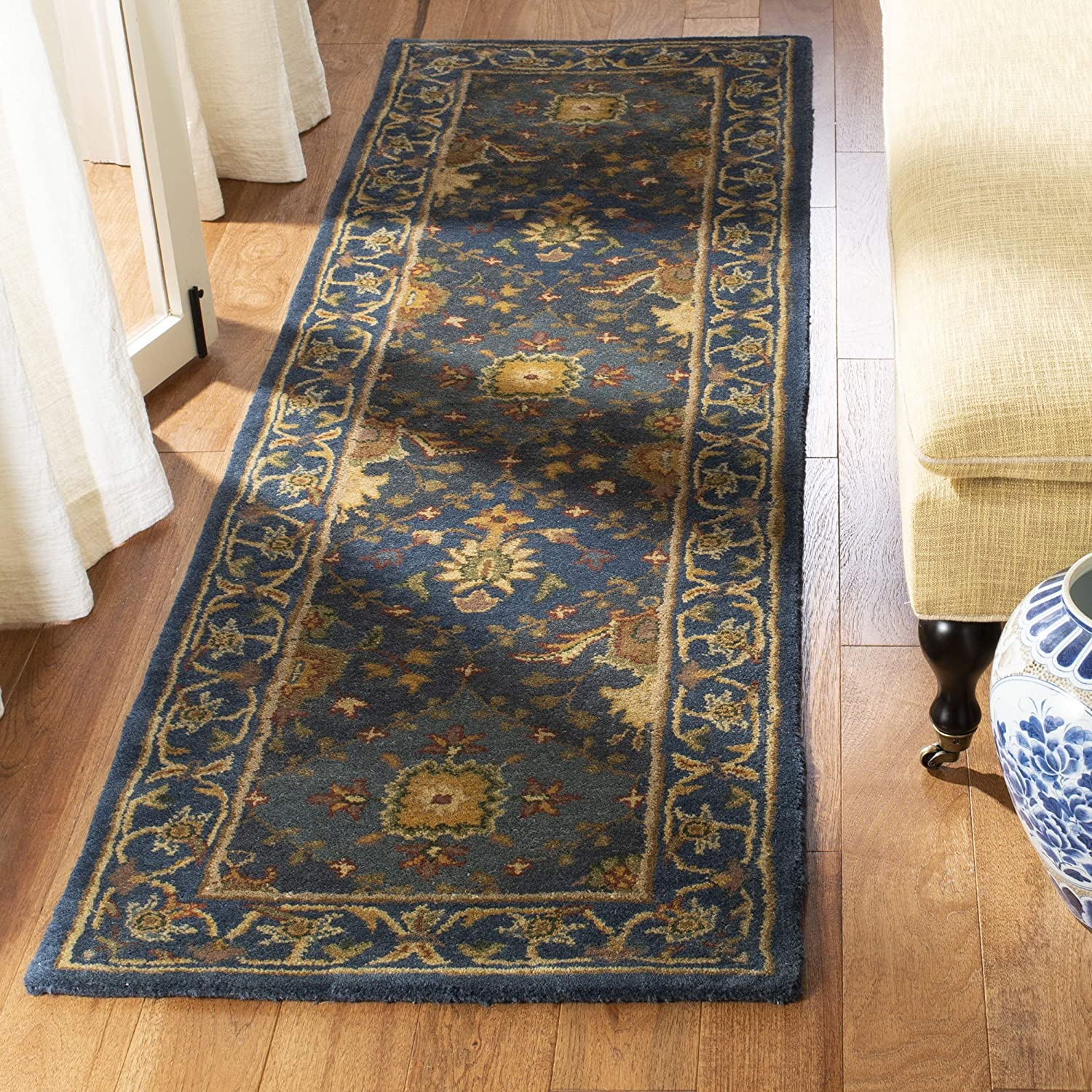 Blue Wool Area Rug 2