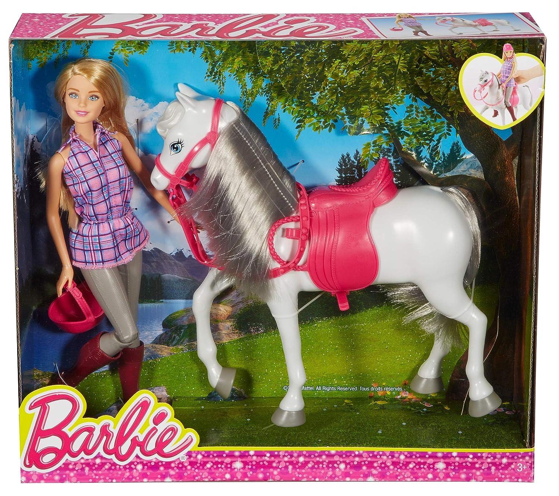 Mattel Spain DHB68 Barbie Doll /& Horse Mu/ñeca Y Su Caballo,