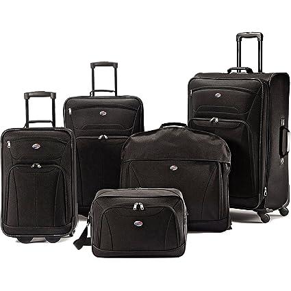 c09e80f51 American Tourister 5 piezas Juego de viaje, color negro. Equipaje de viaje  incluye fundas para ropa.
