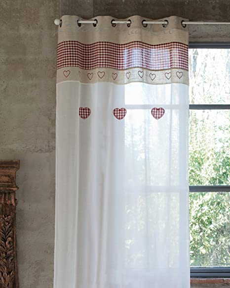 Blanc Mariclo Tenda Country Chic 140 x 290 cm Colore Beige ...