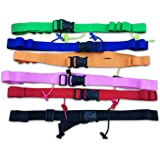 Triathlon Race Number Belt Reflective With Gel Holders Easy Clasp (6 Colours Available)