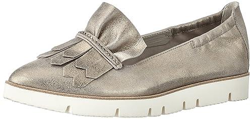 Kennel und Schmenger Schuhmanufaktur Pia X, Mocasines Mujer, Dorado (Pewter Silk Sohle Weiss), 38 EU: Amazon.es: Zapatos y complementos