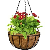 CobraCo Black 12-Inch Canterbury  Hanging Basket Planter HBCB12-B
