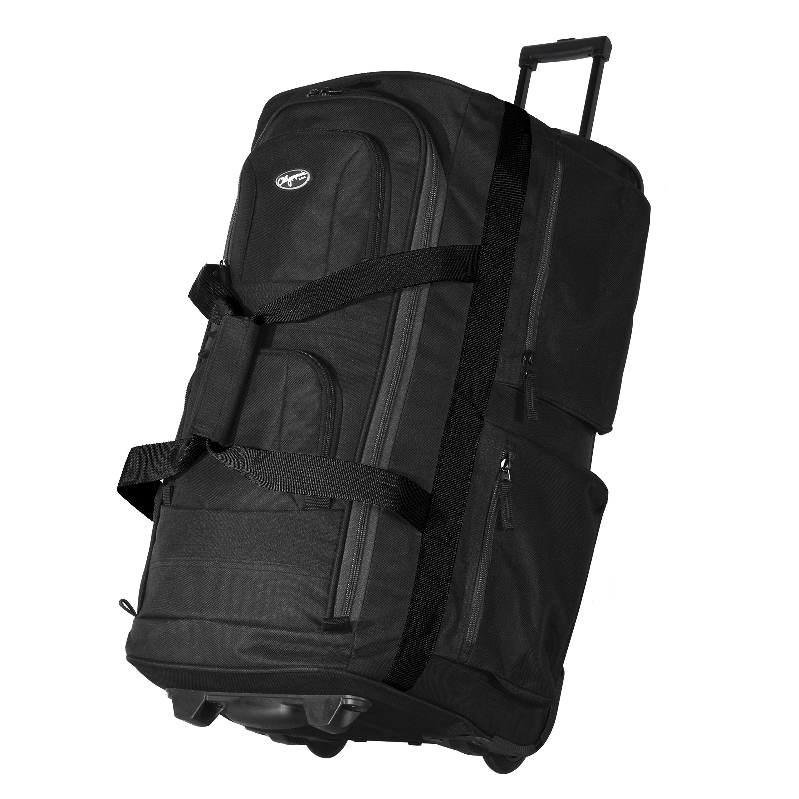 Olympia 33 Inch 8 Pocket Rolling Duffel (Black/Gray)