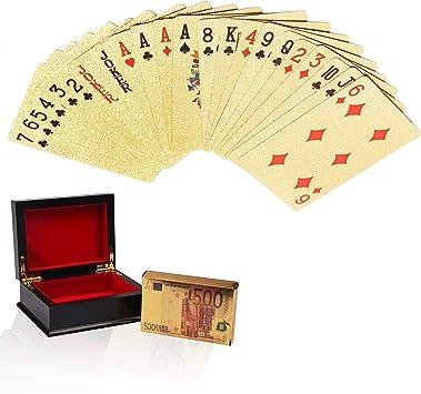 Cartas de Póker - Cartas de Poker de Plástico Naipes de Lámina con ...