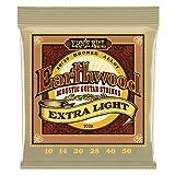 Ernie Ball EP02006 Jeu de cordes pour Guitare folk 10-50 Extra Light
