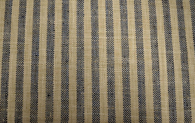 Swift Lakeland Blue Cream Textured Stripe Waverly Fabric