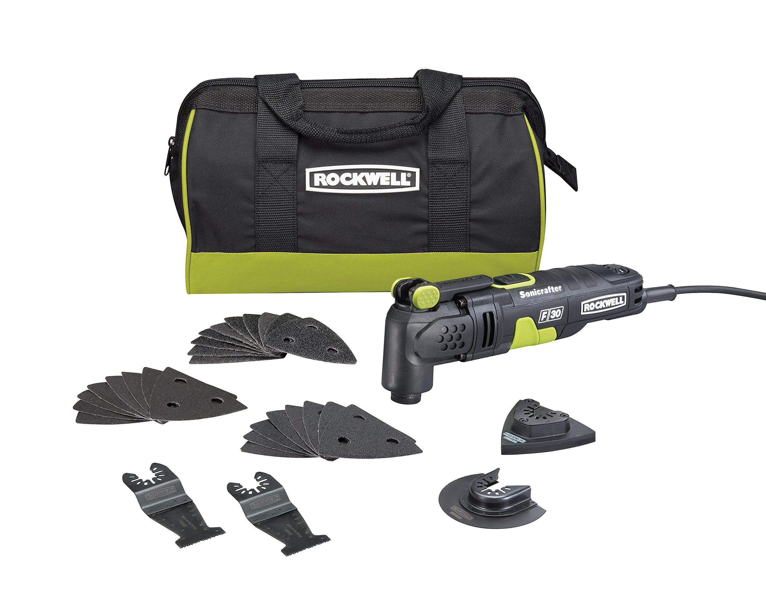 Rockwell RK5131K 3.5A Sonicrafter F30 Kit with Hyper Lock and Universal Fit System, 32-Piece