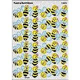 Trend Enterprises Buzzing Bumblebees Sparkle Stickers (72 Piece), Multi