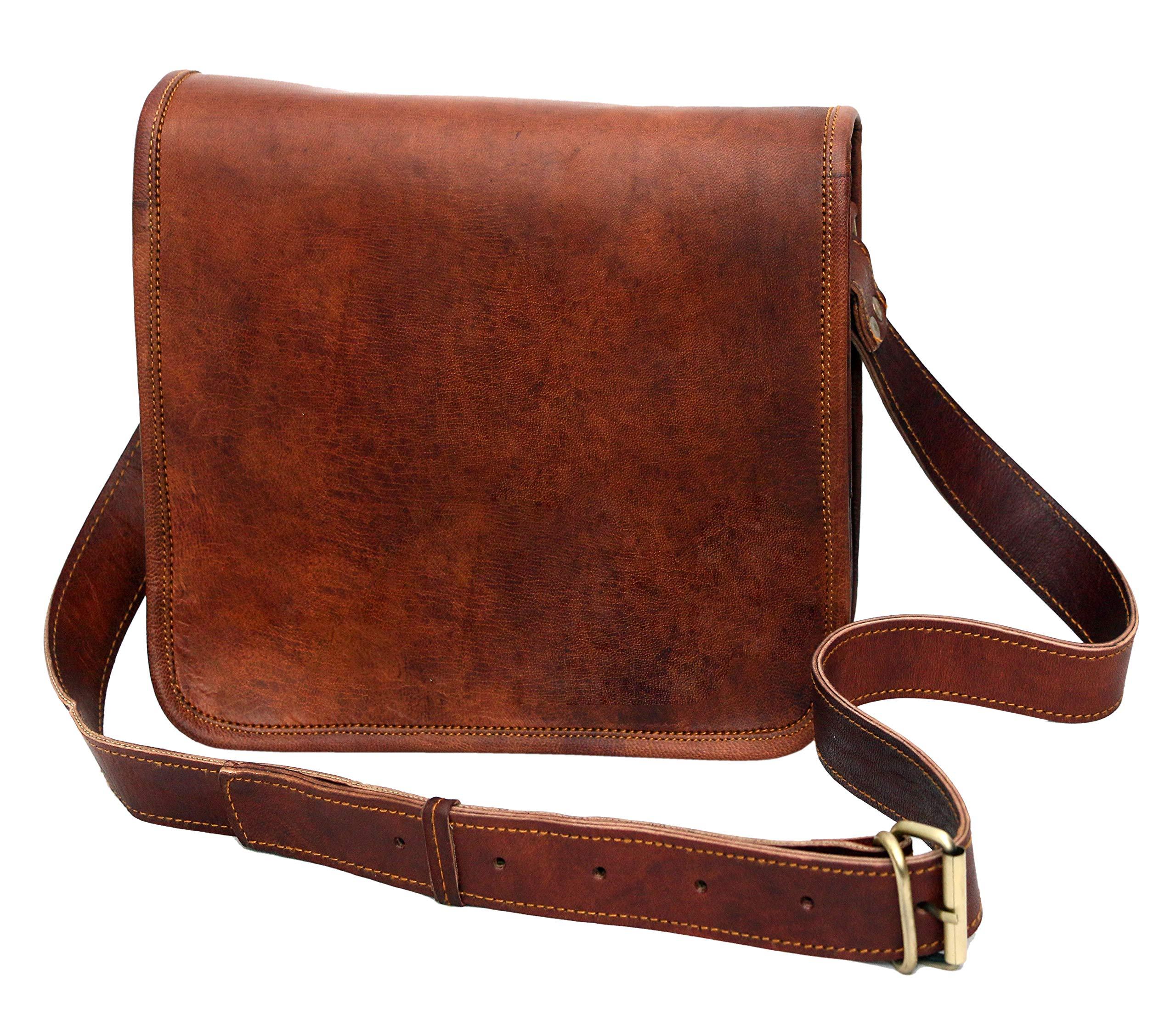 Leather bag Fair Deal / Full flap bag / laptop bag / best computer shoulder briefcase /  Handmade leather bag messenger bag for I pad / brown bag  by Fair Deal (Image #4)